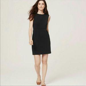 Loft black sheath dress with pockets